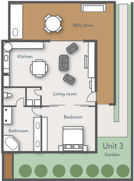 Floor plan of Deluxe Apartment 3