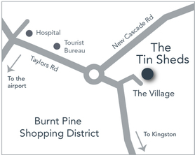 The Tin Sheds Location Map